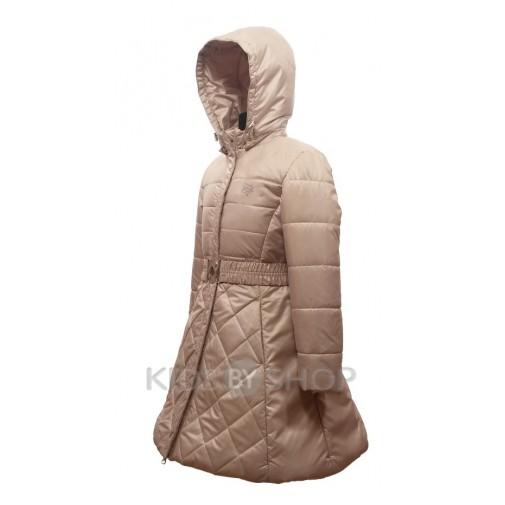 """EGORKA, пальто весна-осень """"Красотка"""" бежевый 128-152"""
