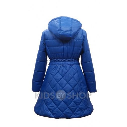 """EGORKA, пальто весна-осень """"Красотка"""" синий 128-152"""