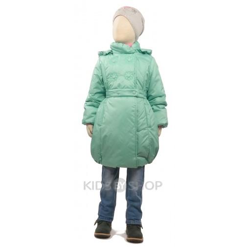 """EGORKA, пальто весна-осень """"Принцесса"""" салатовый 104-128"""