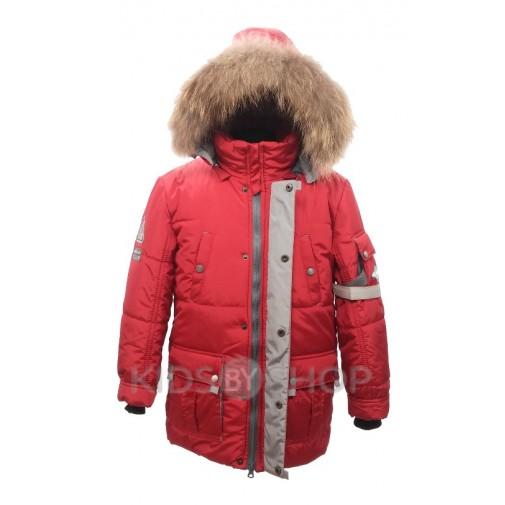 """PIKOLINO, зимняя куртка """"Аляска"""" красный 134-158"""