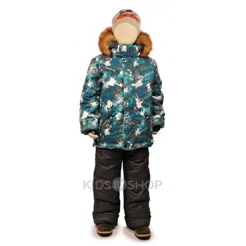 "TOMAS, зимний комплект ""Сноубордист"" серый 98-140"
