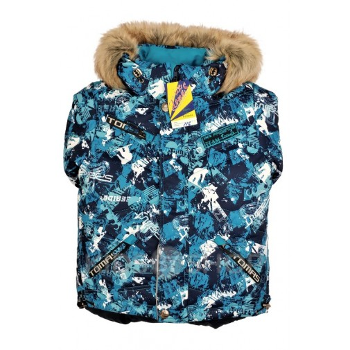 "TOMAS, зимний комплект ""Сноубордист"" синий 98-140"