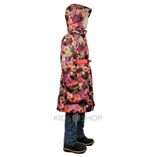 """TOMAS, пальто весна-осень """"Цветок"""" бордовый 92-134"""