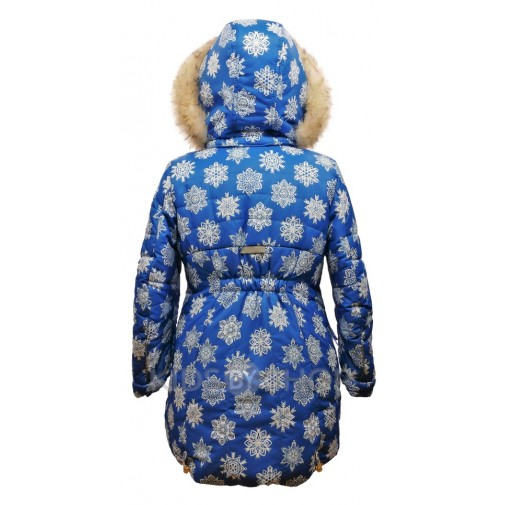 """TOMAS, зимняя куртка """"Виктория"""" синий-С 122-152"""