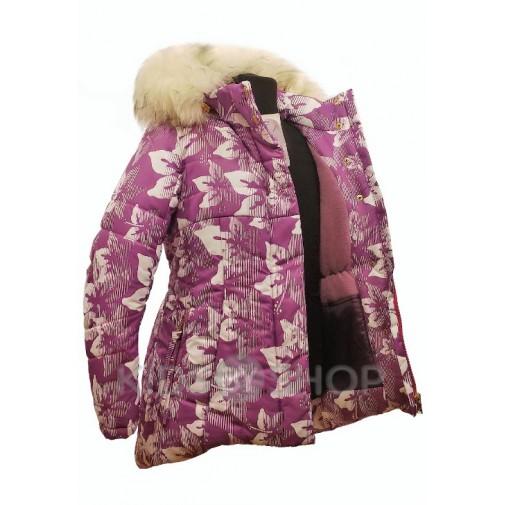 "TOMAS, зимняя куртка ""Виктория"" сирень-Л 122-152"