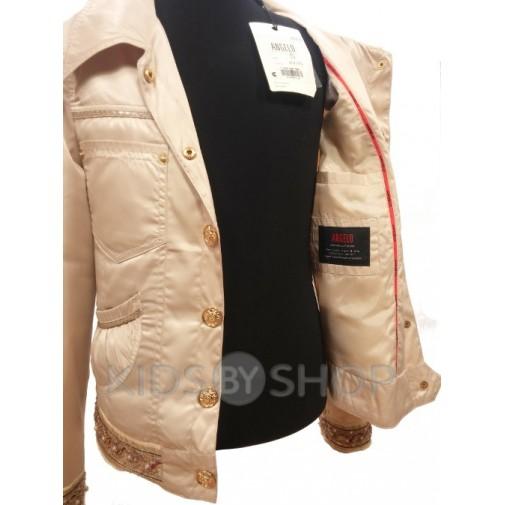 ANGELO, ветровка-пиджак подростковая бежевый 140-158