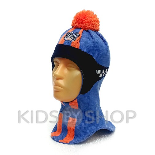 "Шапка-шлем ""Формула"" оранж-голубой GRANS, 52-54"
