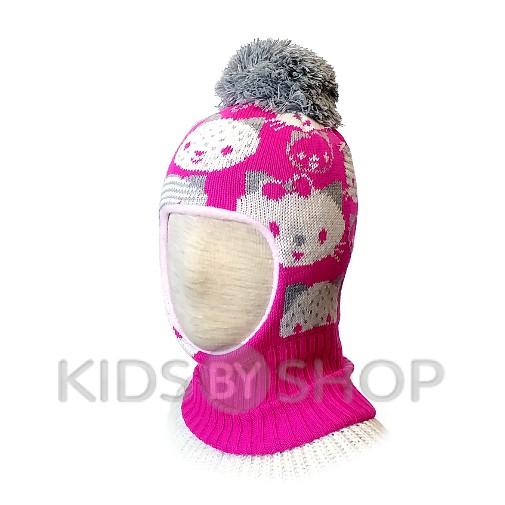 """Шапка-шлем """"Кити""""  малина KOLAD, 46-48"""