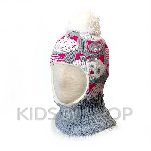 "Шапка-шлем ""Кити"" серый KOLAD, 46-48"