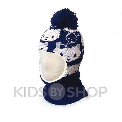 """Шапка-шлем """"Кити"""" синий KOLAD, 46-48"""