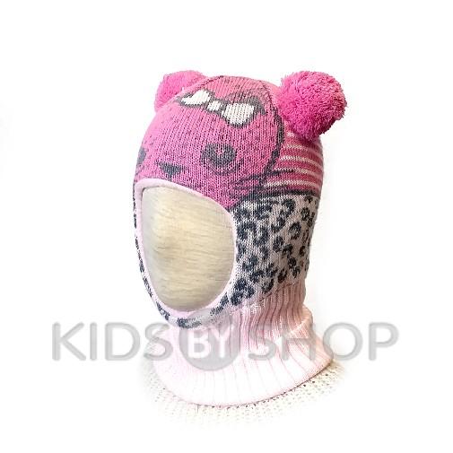 """Шапка-шлем """"Лео"""" розовый KOLAD, 46-48"""