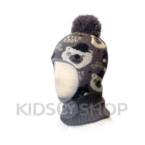 "Шапка-шлем ""Мишки"" беж KOLAD, 46-48"
