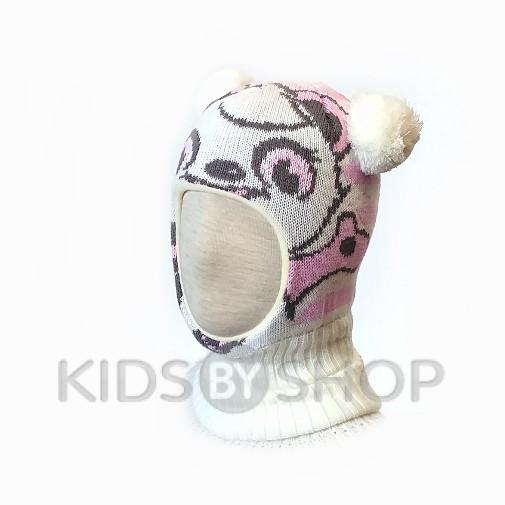 """Шапка-шлем """"Панда"""" белый KOLAD, 46-48"""