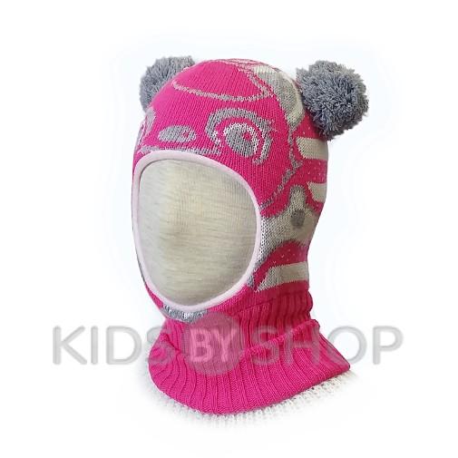 """Шапка-шлем """"Панда"""" малина KOLAD, 46-48"""