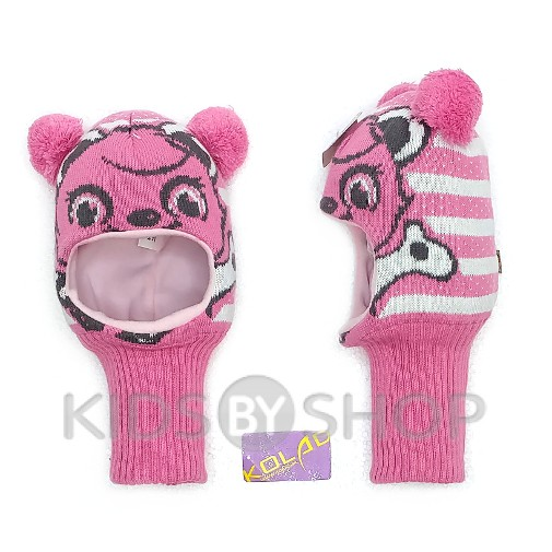 "Шапка-шлем ""Панда"" розовый KOLAD, 46-48"
