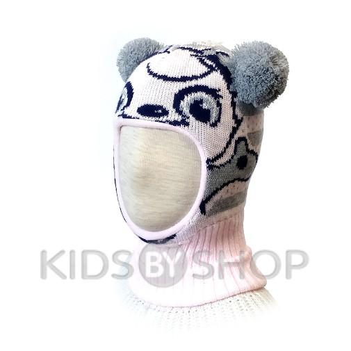 "Шапка-шлем ""Панда""  св.розовый KOLAD, 46-48"