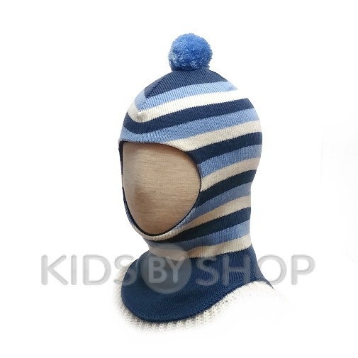"""Шапка-шлем """"Полоска"""" индиго GRUMAR, 44-46"""